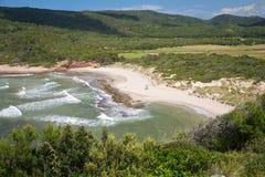 Eenzaam strand in Menorca Royalty-vrije Stock Afbeelding
