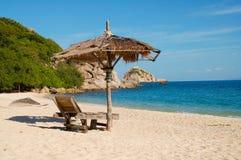 Eenzaam strand Thailand Stock Fotografie