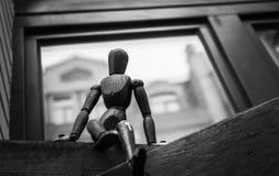 Eenzaam Stuk speelgoed stock foto