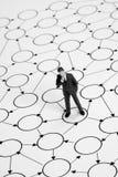 Eenzaam zakenmannetwerk Stock Afbeeldingen