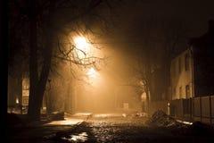 Eenzaamheid bij nacht stock fotografie