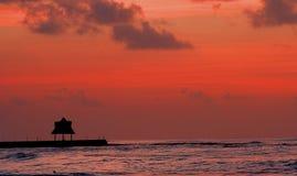 Eenzaamheid Cabana Royalty-vrije Stock Foto's