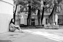 Eenzaamheid in de grote stad Royalty-vrije Stock Fotografie