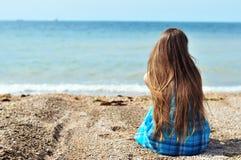 Eenzaamheid dichtbij het overzees Stock Fotografie