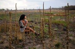 Eenzaamheid en Vrede Stock Foto