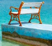 Eenzaamheid in het overzees stock foto's