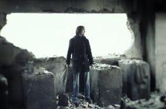 Eenzaamheid in ruïnes royalty-vrije stock foto