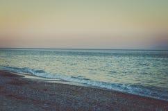 Eenzaamheid in strand stock foto