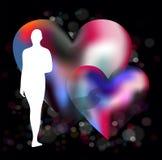 Eenzaamheid tegen liefde vector illustratie