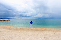 Eenzaamheidswaterkant Stock Foto