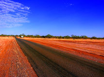 Eenzame Australische weg Royalty-vrije Stock Foto's