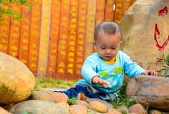 Eenzame baby (Chinees Azië, China,) Royalty-vrije Stock Afbeeldingen