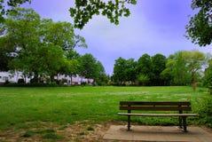 Eenzame bank in het park Stock Fotografie