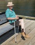 Eenzame bejaarde Royalty-vrije Stock Afbeeldingen