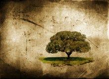Eenzame boom vector illustratie