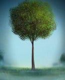 Eenzame Boom - het Digitale Schilderen Royalty-vrije Stock Afbeeldingen