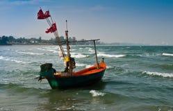 Eenzame boot. Royalty-vrije Stock Fotografie
