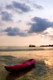 Eenzame boot Stock Foto