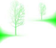 Eenzame de herfstbomen vector illustratie