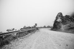 Eenzame Doodsweg Los Yungas Bolivië Stock Afbeeldingen