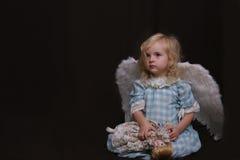 Eenzame engel Stock Afbeelding