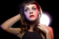 Eenzame Gedronken Vrouw bij een Nachtclub royalty-vrije stock fotografie