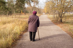 Eenzame gepensioneerde Stock Foto