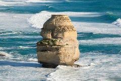 Eenzame kalksteenrots in Australië Stock Foto's