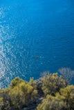 Eenzame Kano van de kust van Kas, Turkije Gezien van de Lycian-Manier Royalty-vrije Stock Afbeelding