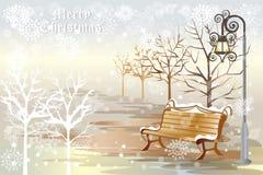 Eenzame Kerstmisachtergrond - vectoreps10 Stock Foto