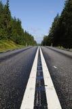 Eenzame landweg Royalty-vrije Stock Foto's