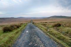 Eenzame landweg Royalty-vrije Stock Foto