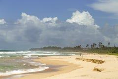 Eenzame mens op de kust Royalty-vrije Stock Afbeeldingen