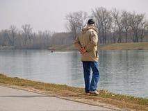 Eenzame Oude Mens Stock Foto's