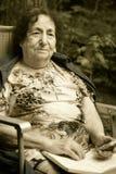 Eenzame oude vrouw Royalty-vrije Stock Afbeelding