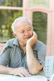 eenzame oudere mens Royalty-vrije Stock Afbeeldingen