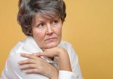 Eenzame oudere vrouw Royalty-vrije Stock Fotografie