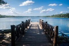 Eenzame pijler in Coba, Quintana Roo, Mexico stock afbeeldingen