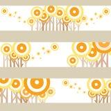 Eenzame pop gele en oranje grafische boom Royalty-vrije Stock Afbeeldingen