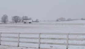 Eenzame schuur in de winter Royalty-vrije Stock Afbeeldingen
