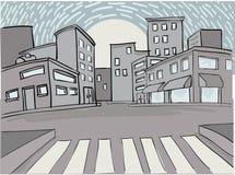 Eenzame stad Stock Foto