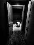 Eenzame stoel Stock Foto's