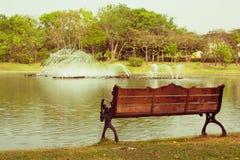 Eenzame stoelwijnoogst Stock Afbeelding