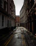 Eenzame straat in Bristol stock fotografie