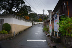 eenzame straat in Japan Royalty-vrije Stock Foto