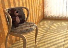 Eenzame Teddy Stock Foto's