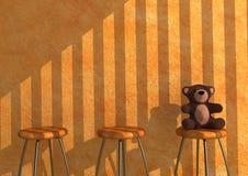 Eenzame Teddy Stock Afbeeldingen