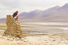 Eenzame toerist Stock Afbeelding