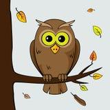 Eenzame uil vector illustratie