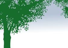 Eenzame vectorboom Royalty-vrije Stock Afbeeldingen